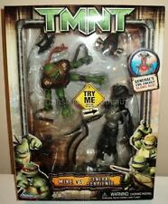 "RARE 2007 PLAYMATES 2 PACK 10"" FIGURES TMNT MIKE v SERPIENTE NINJA TURTLES MISB"