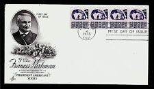 FIRST DAY COVER Francis Parkman 3c #1297 Coil Strip of 4 ARTCRAFT U/A FDC 1975