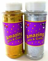 Gold and Silver Glitter Shaker Jar pack,200g  (100g of each Colour)