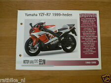 MVE95- YAMAHA YZF-R7 1999-HEDEN MINI POSTER AND INFO MOTORCYCLE,MOTORRAD