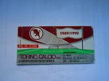 abbonamento TORINO CALCIO STAGIONE 1989-90