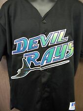 Tampa Bay Devil Rays 1998 Inaugural Russell Athletic Baseball Jersey Size 52 MLB