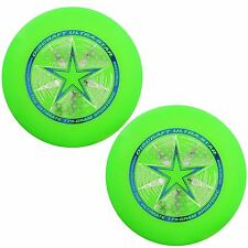 NEW Discraft ULTRA-STAR 175g Ultimate Frisbee Disc (2 Pack) GREEN/GREEN