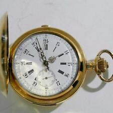 CRONOGRAFO RIPETIZIONE AI QUARTI ORO 18 KT MM 60 POCKET WATCH REPEATER