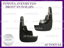 NEW FRONT TOYOTA AVENSIS 2003 - 2009 T250 RUBBER MUD FLAPS SPLASH GUARDS COVER