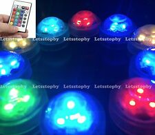 10 LED RGB Submersible w/ Remote Vase Floral Wedding Party Decoration Lights