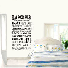 wall stickers Playroom Rules I family Decal Removable Art Vinyl Decor Home Kids