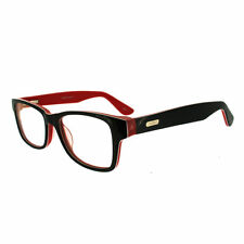 Globe Glasses Retro Thick Temple Black/Red Eye Wear Prescription Frame 48-8-145