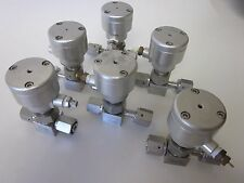 """Nupro SS-4BK-V51-1C Bellow Sealed Valve w/ NC Actuator,1/4""""FVCR - Lot of 6"""