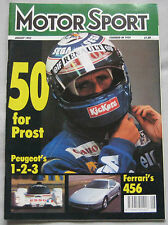 Motor Sport Magazine 08/1993 featuring Ferrari 456 GT,308 GT4,330 GTC,James Hunt