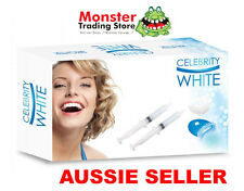 BRAND NEW CELEBRITY WHITE TEETH WHITENING KIT WITH MINI LED LIGHT,GEL MOUTH TRAY
