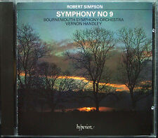 Vernon HANDLEY: Robert SIMPSON Symphony No.9 HYPERION CD Sinfonie Bournemouth