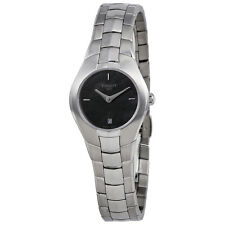 Tissot T Trend T Round Black Dial Stainless Steel Ladies Watch T0960091112100