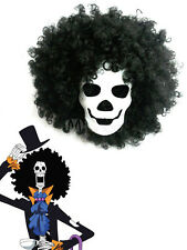 One Piece Dead Bones Brook Black Anime Cosplay Party Wig Hair (Only Wig)