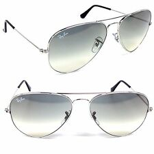Ray Ban Aviator RB3025 003/32 Light Gray Gradient Lens with Silver Frame Size 58