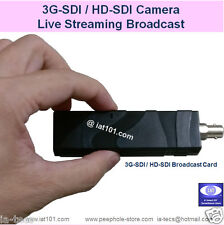 Live Streaming Broadcast Capture Card for 3G-SDI / HD-SDI Camera, EMS shipping