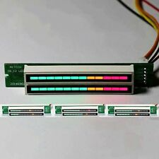 Double 12 bit LED level display VU level indicator meter. 7 Green 2 Orange 3 red