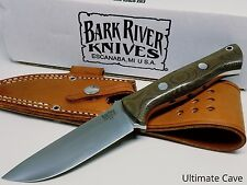 Bark River Fixed Blade Knife New Bravo 1 Green Canvas 07-111M-GC