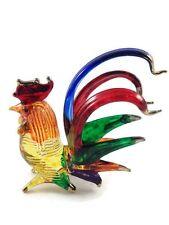 Miniature Chicken Hen Glass Blown animals figurine Art glass figurine dollhouse