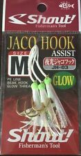 ASSIST JACO HOOK GLOW JH-03 SIZE L SHOUT PESCA AMI FISHING METAL JIG PE VERTICAL