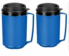 NEW 2 Insulated Coffee Mug Classic Aladdin Mold Thermo Serv 12 oz Blue