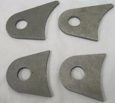 "4 Link Mounting Flat and Axle Tab Brackets - 5/8"" Hole - 3/16"" Steel Set Qty - 4"
