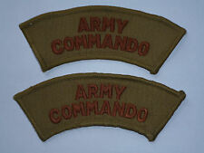 MATCHED PAIR ARMY COMMANDO TITLES DESERT /AFGHANISTAN ISSUE
