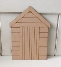 10 x Beach Huts - 4cms - MDF Blank Plaques - decopage, painting, WITHOUT Holes