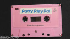 PATTY PLAY PAL DOLL AUDIO CASSETTE TAPE CHEER 'EM ON TO VICTORY 1987 WORKS
