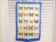 NEW! Ulster Weavers Irish Linen Set of 2 Tea Towels Blue and Butterfles