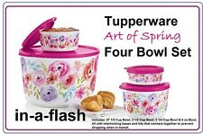 TUPPERWARE  New ART OF SPRING COMPANION SET, SNACK Bowl & DESSERT TOWER fREEsHIP