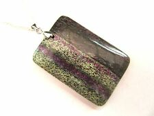 925 Sterling Silver Pendant With Natural Beautiful Ruby Zoisite   (nk1612)