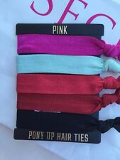 NWT Victoria's Secret PINK Elastic Pony Up Hair Ties Set Of 5 Limited Edition