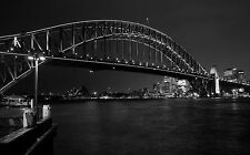 Framed Print - Sydney Harbour Bridge Black and White (Picture Poster Art Oz)