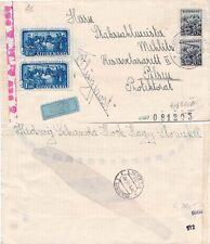 Slovakia 1943 Air mail from Bratislavia Censored Left and back.