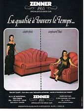 PUBLICITE ADVERTISING 054  1980  ZENNER    sièges en cuir meubles