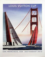 Louis Vuitton Cup San Francisco Poster by Razzia Orig LARGE SIZE NEW hand signed