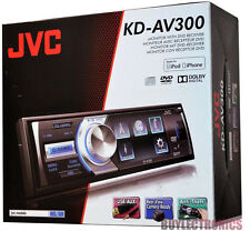 "JVC KD-AV300 3"" Single-Din Car DVD/CD/USB/AUX Player With Remote Control NEW"
