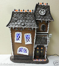 NIB BYERS'  LIGHTED Haunted Halloween Gingerbread House 2015 #HH1