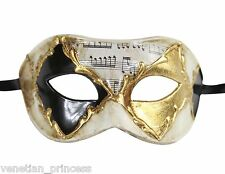 Men's Venetian Masquerade Mask Roman Gladiator Vintage Gold Phantom PM017 NEW