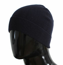 NWT $200 DOLCE & GABBANA Hat Blue Cashmere Mens Beanie Winter Head s. One Size