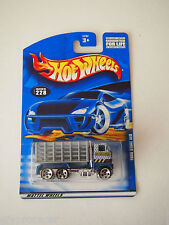 Hot Wheels FORD STAKE BED TRUCK #228 CRASH BARRIER CONSTRUCTION LOGO