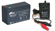 Toy Car Battery & Charger Combo Uprated 12V 9ah Battery same size as 7ah & 7.5ah