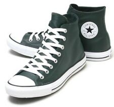 CONVERSE ALL-STAR 'LEATHER' HI-TOP Basketball SHOES Green - M 6 / W 8 / EU 39