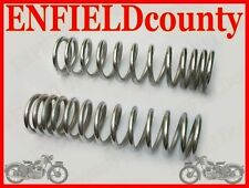 NEW PAIR ROYAL ENFIELD CHROMED SHOCK ABSORBER SPRING SPARES2U