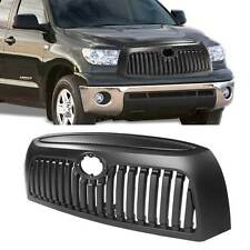07-09 Toyota Tundra Black ABS Vertical Front Upper Hood Grille w/ Logo Cut-Out