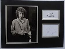 LEO SAYER - 70'S/80'S SINGER/SONGWRITER - SIGNED DISPLAY - SIGNING DETAILS COA