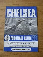 09/01/1971 Chelsea v Manchester United  (Token Cancelled, Small Rip On Back). No