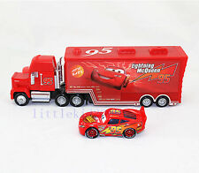 Disney Pixar NO.95 Cars1 Metal McQueen & MACK Mack Hauler Truck Toy Car Set Toy