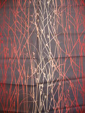 100cm x 125cm HARLEQUIN Grasses linen curtain fabric remnant  red/pink